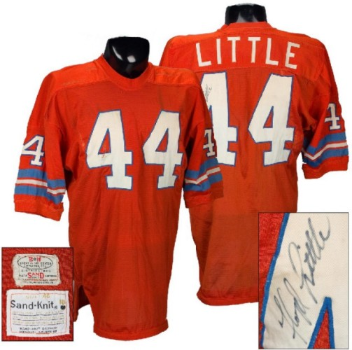 "1786a4e81 1967-'68 home jersey of Broncos Ring of Famer, Floyd ""The Franchise""  Little, recently auctioned by American Memorabilia, Inc."