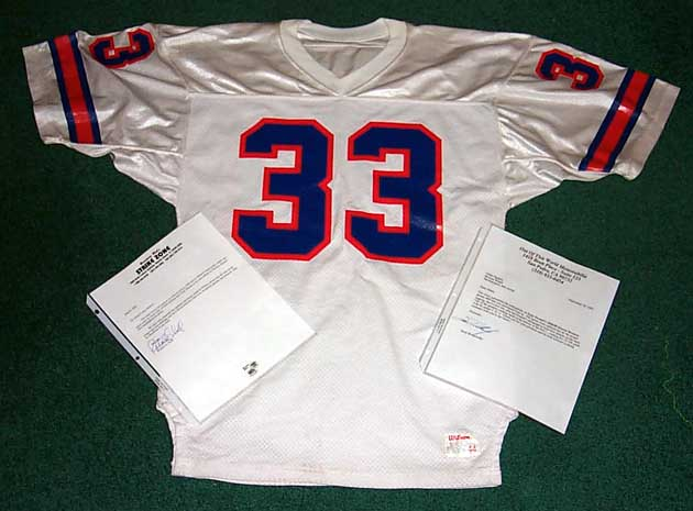 5228f71ffb5 An item offered on eBay was described as a 1988 Game Used/Worn Jersey of Tony  Dorsett w/ autograph and 3 COA's including (two notable dealers listed w/  ...